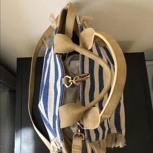 Denim/Tan Handbag